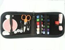 36 pc set Zipping Travel Sewing Kit  Needles, Thread, Scissors & more - Black