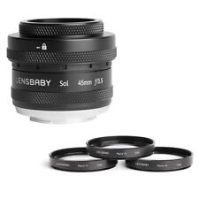 Lensbaby Sol 45mm f/3.5 Lens for Fuji X Cameras w/ Lensbaby 46mm Macro Filters