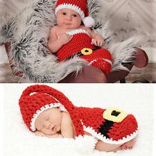 Woolen Baby Boy Girls Infant Unisex Christmas Hat Beanie Cap Santa Photo Props