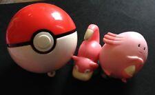 Pokeball Jakks Pokemon Figure + 2 Burger King Slowpoke Chansey Save £2 Multi-buy