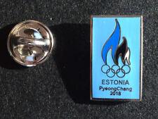 ESTONIA PyeongChang 2018 OLYMPIC GAMES KOREA PIN BADGE / NOC