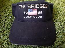The Bridges 1999 Golf Club Black Golf Visor - Adult Unisex Adjustable