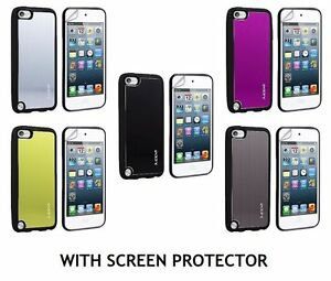JUPPA TPU OUTER RIM WITH SMOOTH ALUMINIUM BACK PLATE CASE FOR APPLE IPOD TOUCH 5