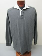 Polo by Ralph Lauren Gray Long Sleeve Polo Player Rugby Size L