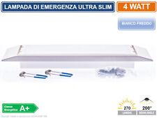 LAMPADA LED D'EMERGENZA AD INCASSO ANTI BLACK OUT GRADO PROTEZIONE IP40 4W 270LM