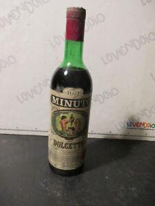 Flasche Wein Oldtimer Konfekt Minute 1971 Sammler