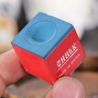 1PC Billiard Table Chalk Pool Snooker Cue Tip Red Blue !