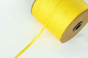 6mm Yellow Flat Rayon Braid Vintage