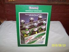 VINTAGE HEINEKEN 6 PACK COUNTER DISPLAY CARD / RETAIL DISPLAY - NEW OLD STOCK !