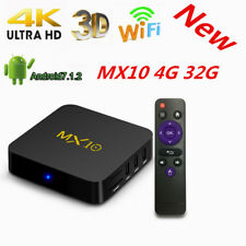 Cheapest 4GB + 32GB MX10 Android TV Box, Android 7.1 Streaming Media Player