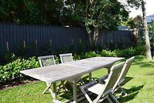Outdoor Teak Timber Extendable Dining Table and 4 Chairs Set