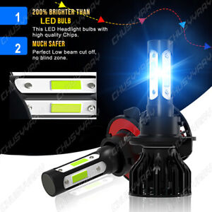 LED Headlight Bulbs Kit H13/9008 For Dodge Ram 1500 2006-2011 2012 High/Low Beam