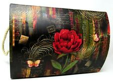 Punch Studio Decorative Chest Trunk Box Twilight Blooms 66797 Medium