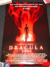 ORIGINAL Dracula 27 X 40  DOUBLE SIDED THEATER MOVIE POSTER Wes Craven