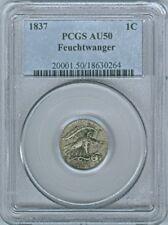 1837 FEUCHTWANGER EAGLE ONE CENT PCGS AU-50