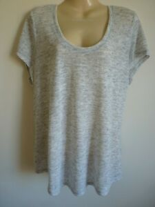 M&S Collection Grey Short Sleeve T-Shirt size 20 Regular Fit