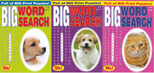 WORDSEARCH BOOK - LARGE PRINT -  3 BOOK SET - 219 PUZZLES - NEW - SET 220