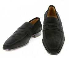 $700 Sutor Mantellassi Black Suede Shoes - Loafer - Size 7 (US) / 6 (EU)