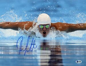 RYAN LOCHTE SIGNED AUTOGRAPHED 11x14 PHOTO OLYMPIC SWIMMING CHAMPION BECKETT BAS