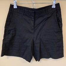 Theory Women's Dark Navy Blue Viscose Linen Blend Tailored City Shorts Size 2