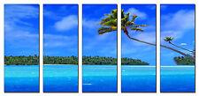 Tropical Beach Palms Photo on Canvas Print Wall Art Framed Ready to Hang