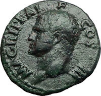 Marcus Vipsanius Agrippa Augustus General Ancient Roman Coin by CALIGULA i58015
