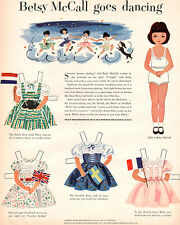 Betsy McCall Goes Dancing DUTCH British SWEDISH French Dresses 1952 PAPER DOLL