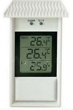 Digital Waterproof Outdoor Thermometer High Low Memory Garden Thermometer