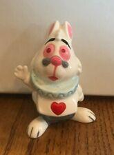 Disney Alice in Wonderland White Rabbit Ceramic Porcelain Figurine Vintage Japan