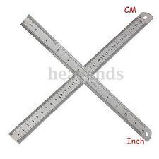 30cm 12'' Regla Ruler Acero inoxidable Precisión Medición Medidora Doble Cara