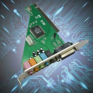 4 Channel 5.1 Surround 3D PCI Sound Audio Card MIDI For PC Windows P4M0