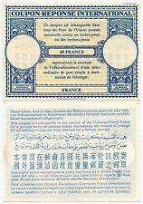 La Francia 1950 S risposta pagata IRC Coupon 40 FRANCHI non emessi
