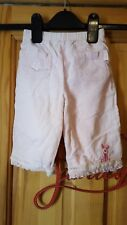 baby girls pink cord disney piglet trousers size 6/9 months