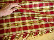 8 yards Red Yellow Plaid Decorator Upholstery Drapery Fabric