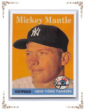 "1958  MICKEY MANTLE - Topps ""REPRINT"" Baseball Card # 150 - NEW YORK YANKEES"
