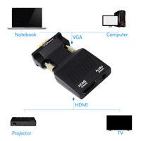 Full HD 1080P Audio VGA to HDMI  HDTV Video Adapter Converter Computer PC Laptop