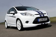 Genuine Ford Fiesta Digital Stripes in White - Front and Rear Bumper (1702784)
