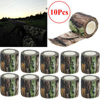 10 Rolls 4.5M Military Camo Stretch Bandage Hunting Camping Camouflage Tape Wrap