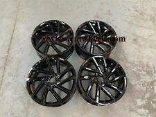 "18"" x4 New Golf R Spielberg Style Alloy Wheels Gloss Black VW Golf MK5 MK6 MK7"