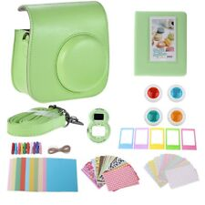 for Fujifilm Instax Mini 9 Instant Camera 7 In1 Accessory Bundle Set Green Bag