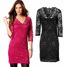 Viscose V-Neck 3/4 Sleeve Plus Size Dresses for Women