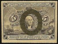5 CENT FRACTIONAL CURRENCY 1863 1867 UNITED STATES NOTE OLD PAPER MONEY Fr 1233
