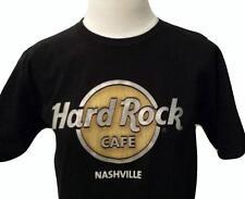 HARD ROCK Cafe NASHVILLE 3-D Logo T-SHIRT Black Size Womens S Short Sleeve EUC