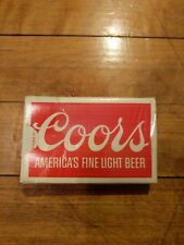 Vintage Deck Of Coors Beer Playing Cards Complete Set Original Box