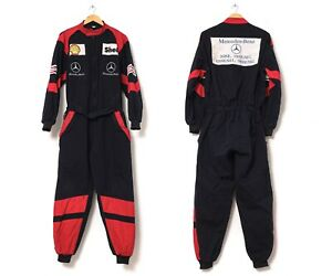 90s Vintage Mens MERCEDES BENZ SEL Coverall Overall Black Size 176