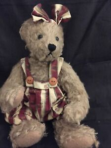 Ganz Cottage Collectibles Jointed Bear~ RAMONA~Mary Holstad~Easter Basket?