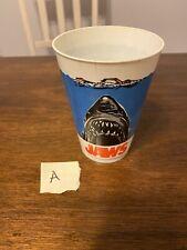 Vintage Original 1975 JAWS Shark Movie Theater Plastic Icee Cup 16oz 7-11