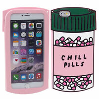3D Cute Chill Pills shockproof Soft Silicone Case Cover For iPhone 5s 6/6s Plus