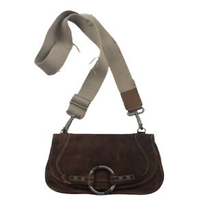 Ruehl no.925 Leather Military Style Crossbody Bag Distressed Vintage Style Purse
