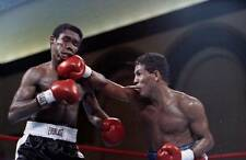 Old Boxing Photo Hector Camacho Connects A Punch Against Howard Davis Jr
